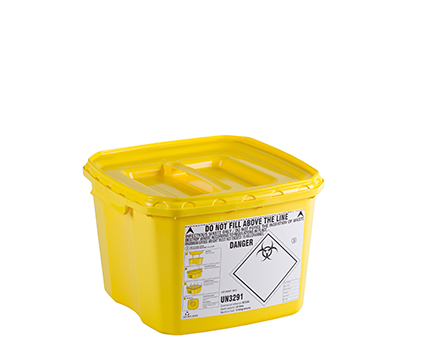 Clinical waste containers with high impact