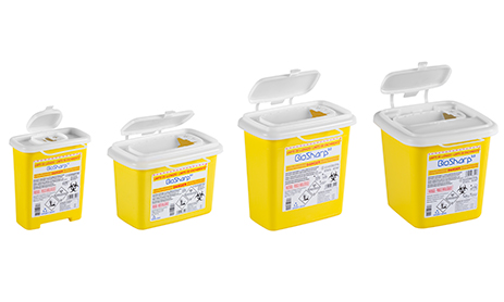 Clinical waste and sharps disposal container